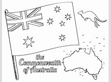 Free Australian Flag Coloring Page
