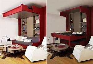 lit mezzanine deux places fonctionalite et variantes With tapis de sol avec canapé deux places design