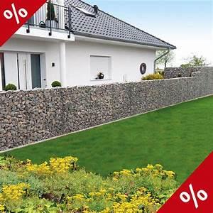 Sichtschutz Befestigung Auf Mauer : bellissa mauer system limes23 basisbausatz h 210cm gabione ~ Watch28wear.com Haus und Dekorationen