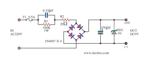 Transformerless Power Supply Circuit Eleccircuit