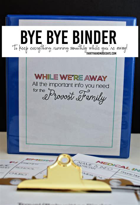 printable travel binder