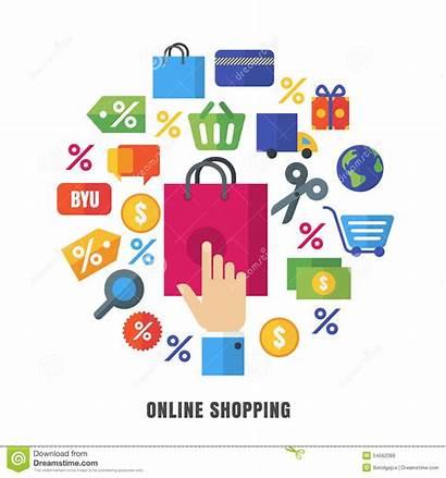 Shopping Vector Commerce Customer Background Icons Symbols