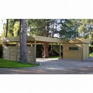 Carport Avec Abri : abri de jardin avec carport d finition et caract ristiques ~ Melissatoandfro.com Idées de Décoration