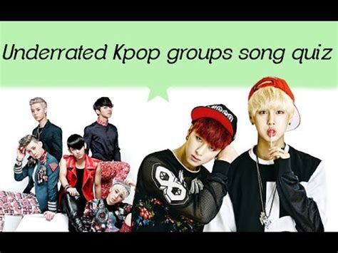 Underrated Kpop Groups Song Quiz (boy Group Edition) Youtube