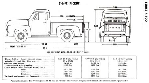 chassis dimensions ford truck enthusiasts