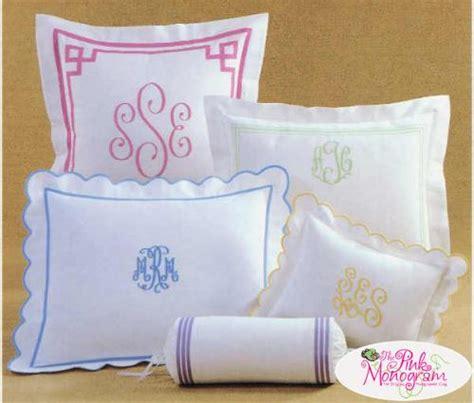 monogrammed bedding  linens