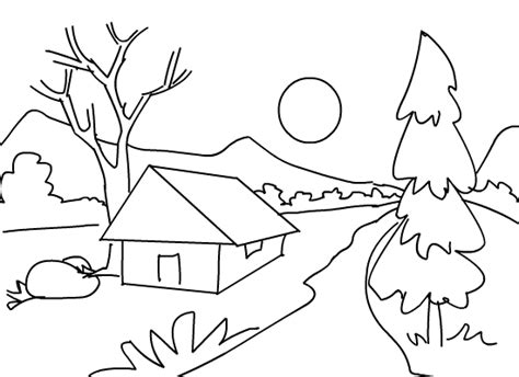 Printable Scenery Coloring Pages