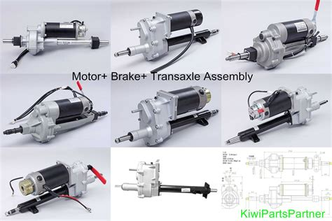 m57 transaxle assembly 500w motor 5700rpm with brake mobility scooter gearbox transaxle motor