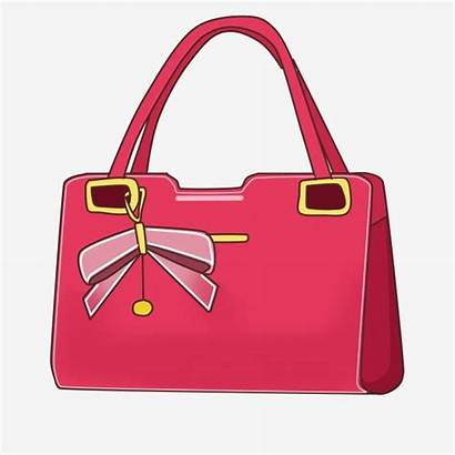 Handbag Cartoon Bag Clipart Lady Ladies Bags