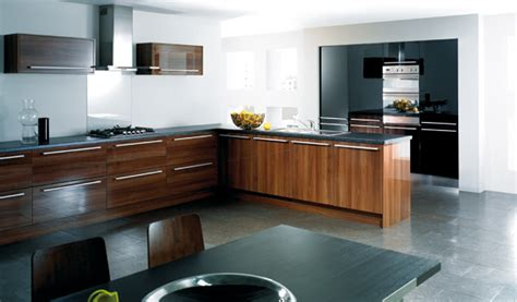 Black Walnut Gloss Kitchen