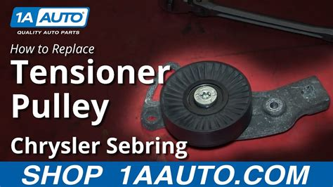 How Install Replace Engine Belt Idler Pulley