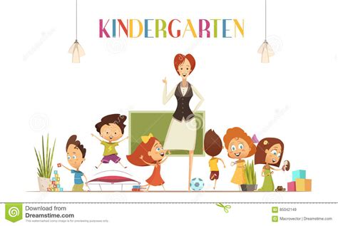 best educational cartoons for preschoolers kindergarten with illustration stock 328