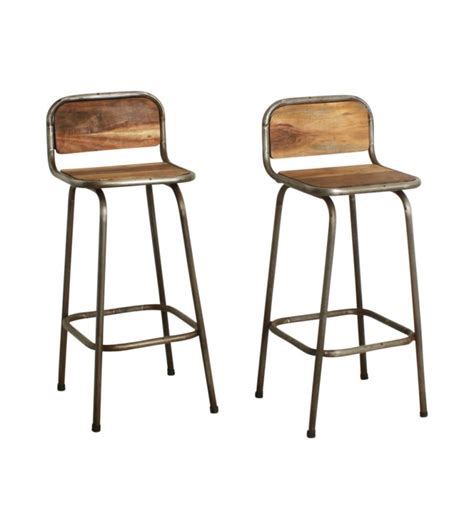 Tabouret De Bar Boismetal  Vintage People