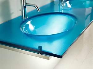 Credence Lavabo Salle De Bain : giava 1 2 lavabo en verre salle de bain ~ Dode.kayakingforconservation.com Idées de Décoration