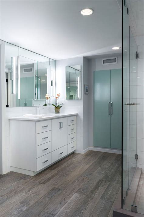 25 best ideas about wood tile bathrooms on