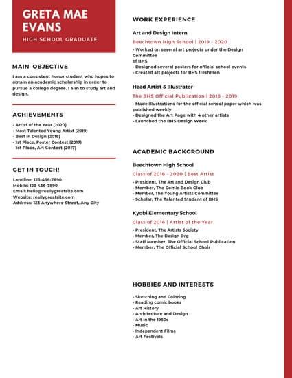 orange and white dotted high school resume templates by canva