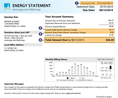 pg e customer service phone number netgreen sle bill sonoma clean power