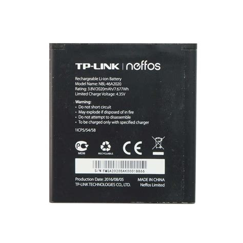 bateria movil tp link neffos yl nbl  mah original moviles portatiles