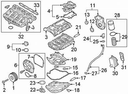 Engine Volkswagen Golf Ring Parts Oil Valve