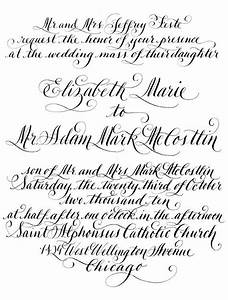 diy calligraphy wedding invitation wording to print With calligraphy alphabet wedding invitations