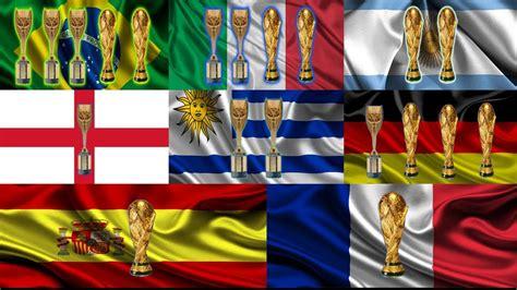 los paises  mas titulos en el mundo uruguay brasil