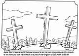 Coloring Easter Bible Crucifixion Jesus Resurrection Matthew Cross Activities Crosses Church Three Whatsinthebible Colouring Tomb Empty Sunday Preschool Lent Crafts sketch template