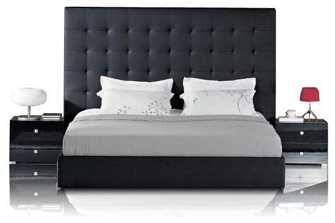 black leather headboard bed black leather bed with tufted headboard