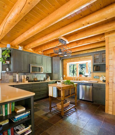 log cabin kitchen cabinets cabin kitchen cabinets kitchen traditional with bow window