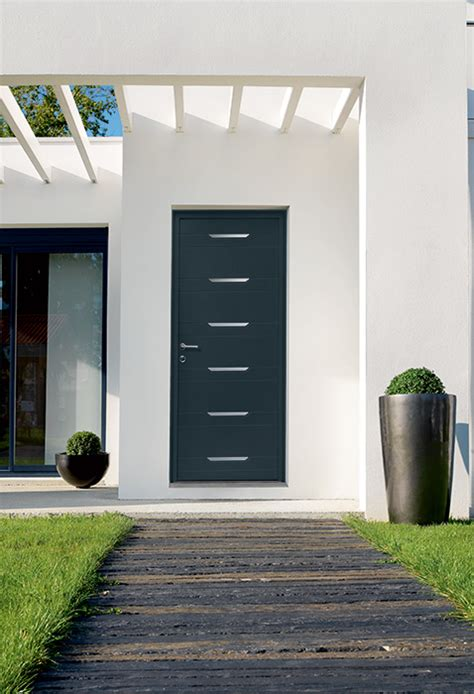 porte dentree alu porte dentree aluminium sur mesure