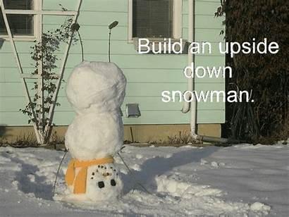 Fun Winter Snow Snowman Holiday Upside Down