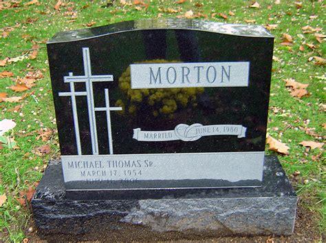 gravestones made from black colored granite rome monument