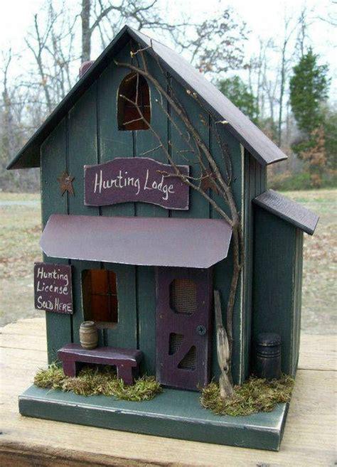 Primitive Birdhouse Hunting Lodge Farmhouse