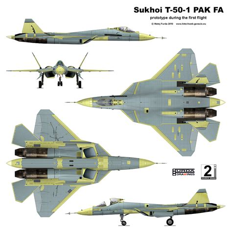 Sukhoi T-50-1 Pak Fa Is A Twin-engine Jet Fighter Being