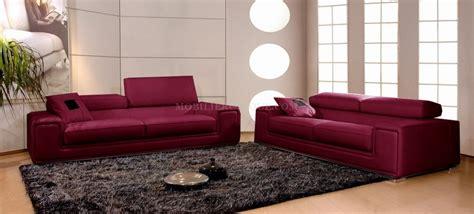 canapé cuir violet canapé en cuir italien pas cher 3 places