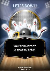 flyer und handzettel bowling party flyer
