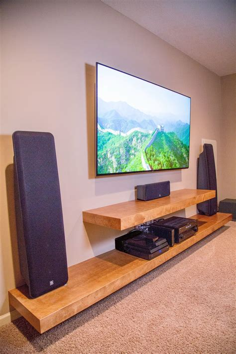 Decorating Ideas For Entertainment Center Shelves by Floating Shelves Entertainment Center Built In Cabinets