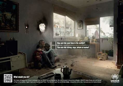 unhcr refugee ads ad dilema awareness campaign print poster posters choices faced want osocio wouldn advertiser un