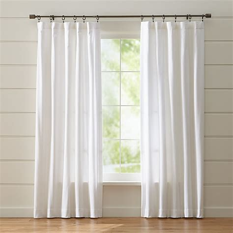 White Curtains Drapes - wallace white curtains crate and barrel