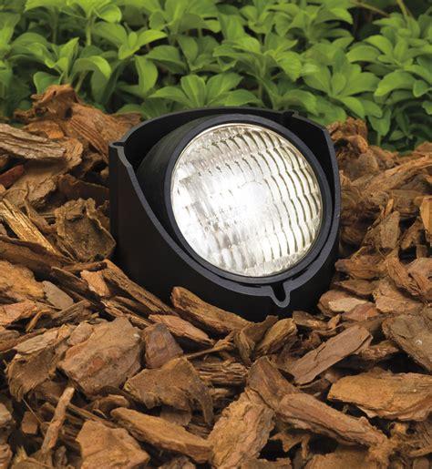 in ground well light kichler 15488bk landscape black in ground light