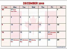 December 2018 Calendar Canada Printable Letter Template Calendar Sheets & Images