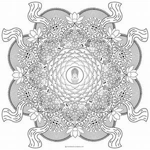 Buddhist Mandala Coloring Pages Coloring Home
