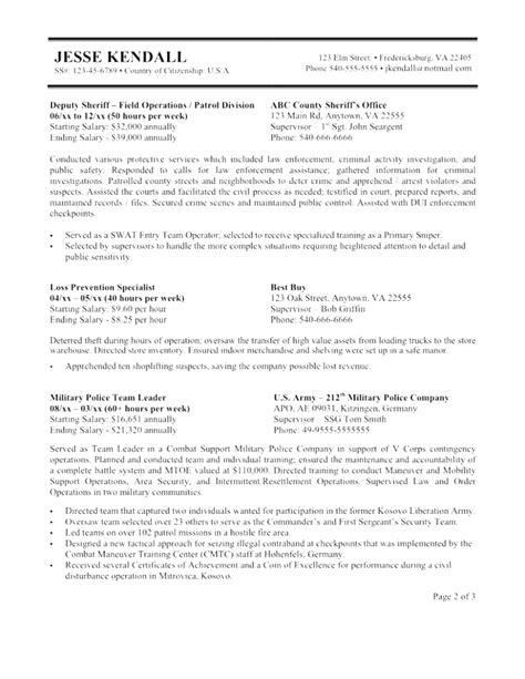 creative new federal resume template 2018 government