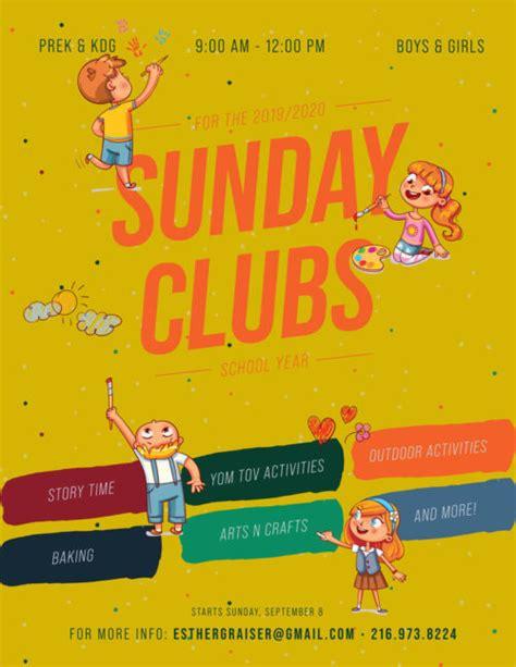 sunday clubs school year