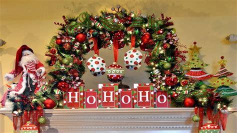 christmas mantel decorations garland youtube