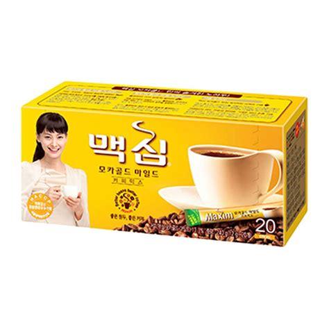The mild and soft high quality mild coffee beans to enhance the original taste and aroma of this korean instant coffee. Korean Food - Maxim Mocha Gold Mild Coffee Mix 20 Sticks # ...