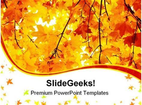 maple  autumn forest nature powerpoint templates