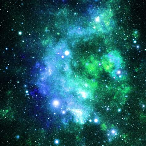 Available in hd, 4k resolutions for desktop & mobile phones. Galaxy Fabric Blue and Green Space Stars By Inspirationz