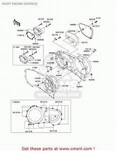 Kawasaki 2001 Vn1500-r1 Vulcan 1500 Drifter Right Engine Cover S
