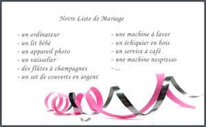 listes de mariage mariage cadeau liste de mariage
