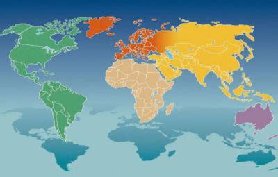 Sunčev Zrak - kontinenti